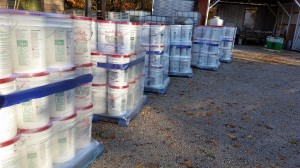 Italian Juice pails for winemaking are available for pickup